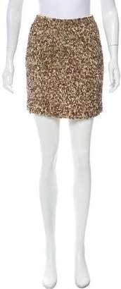 Vince Sequin Embellished Mini Skirt