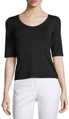 Armani Collezioni Half-Sleeve Core Tee, Black $345 thestylecure.com