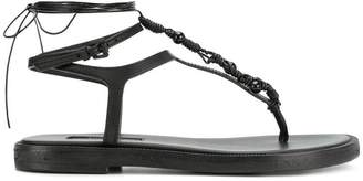 Ann Demeulemeester strappy thong flat sandal