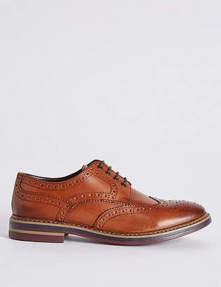 Marks and Spencer Big & Tall Leather Trisole Brogue Shoes