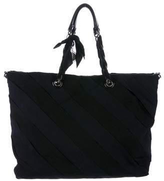 Lanvin Leather-Trimmed Grosgrain Satchel
