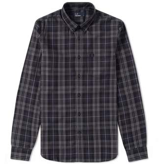 Fred Perry Authentic Contrast Stripe Tartan Shirt