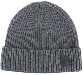 DSQUARED2 ribbed logo beanie