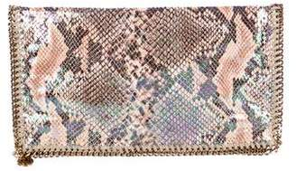 Stella McCartney Iridescent Falabella Fold-Over Clutch