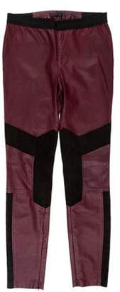 Belstaff Mid-Rise Leather Leggings Mid-Rise Leather Leggings