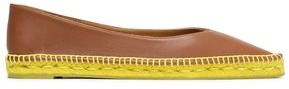 Castaner Leather Point-Toe Espadrilles