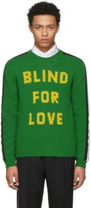 Gucci Green Blind For Love Kingsnake Sweater