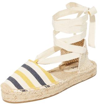 Soludos Striped Platform Gladiator Sandals $65 thestylecure.com