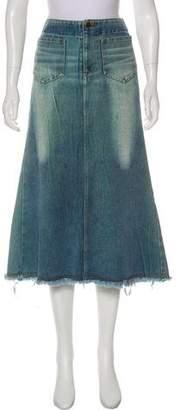 Junya Watanabe Denim Midi Skirt