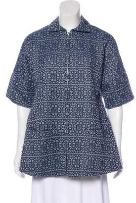 Tanya Taylor Short Sleeve A-Line Jacket