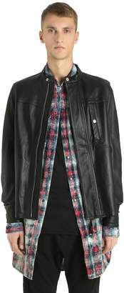 Diesel Black Gold Zip-Up Nappa Leather Jacket