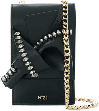 No.21 micro abstract bow bag