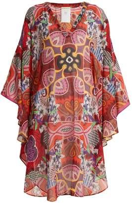 Etro V-neck floral-print silk-chiffon kaftan
