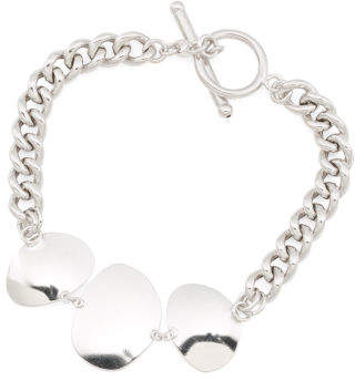 Made In Italy Sterling Silver Organic Shaped Cuban Bracelet