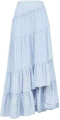 3.1 Phillip Lim Tiered Gingham Maxi Skirt