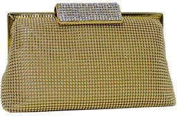 Whiting & Davis Crystal Clasp Clutch Bag