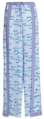 Camilla Printed Silk Crepe De Chine Wide-Leg Pants