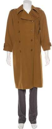 Saint Laurent Double-Breasted Long Coat