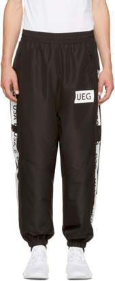 Ueg Black Logo Tape Track Pants