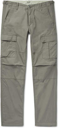 Carhartt Wip WIP - Aviation Slim-Fit Cotton-Poplin Cargo Trousers - Men - Green