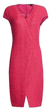 St. John Women's Andrea V-Neck Cap Sleeve Knit Dress