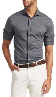 Brunello Cucinelli Button-Down Jersey Shirt