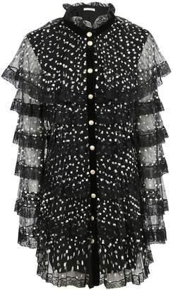 Philosophy di Lorenzo Serafini Polka Dot Sheer Dress