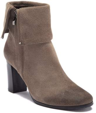 Antelope Cuffed Leather Bootie