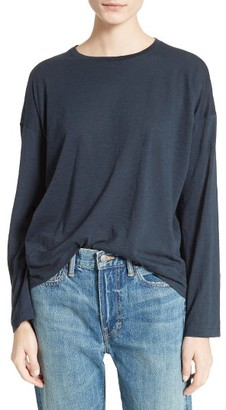 Women's Vince Relaxed Pima Cotton Tee $95 thestylecure.com