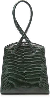 Little Liffner Twisted Wristlet Lizard Embossed Leather Bag