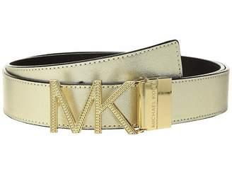 MICHAEL Michael Kors Reversible Chain Logo Hardware Belt