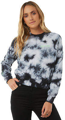 Volcom New Women's Ozzie Crew Crew Neck Cotton Black