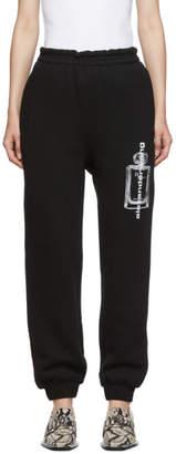 Alexander Wang Black Graphic Lounge Pants