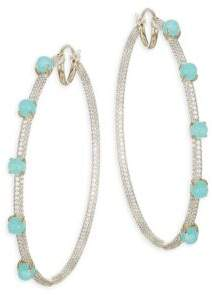 Adriana Orsini Hues Aqua Hoop Earrings
