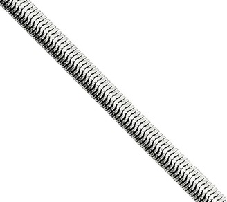 """Steel By Design Stainless Steel 4.2mm 22"""" Flat Snake Chain Necklace"""