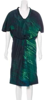 Marni Abstract Print Midi Dress