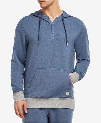 2xist Men's Hooded Henley Sweatshirt