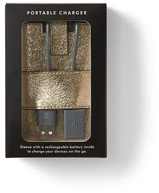 Banana Republic Portable Charger with Metallic Sleeve