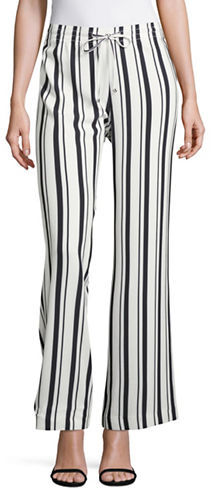 Calvin Klein Calvin Klein Striped Wide-Leg Pants