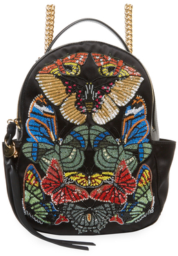 Alexander McQueen Butterfly Small Satin Chain Backpack
