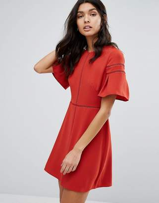 Whistles Estrella Fluted Sleeve Dress $237 thestylecure.com