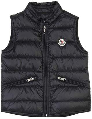 Moncler Gui Nylon Down Vest W/ Logo Patch