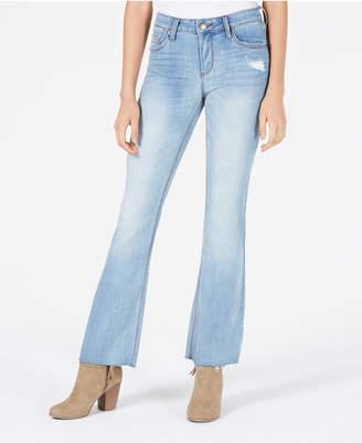STS Blue Distressed Raw-Hem Flare Jeans