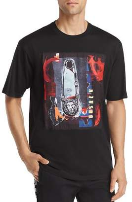 Versace Abstract Safety Pin Graphic Tee