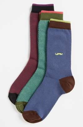 Tucker + Tate Nordstrom Herringbone 3-Pack Crew Socks