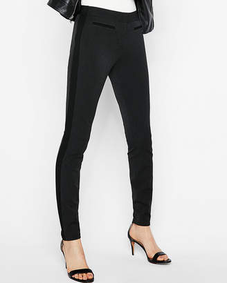 Express Mid Rise Stripe Stretch Ankle Leggings