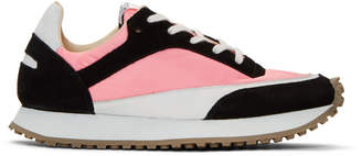 Spalwart Pink and Black Tempo Low Sneakers