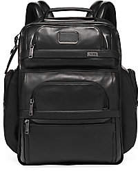 Tumi Men's Alpha Leather Compact Laptop Brief Pack