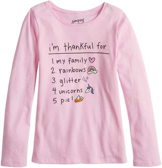 f58eaf7ff70 Girls 4-10 Jumping Beans Long-Sleeve Graphic Tee