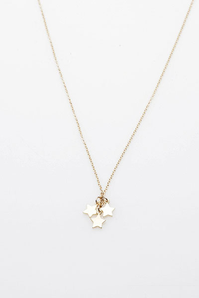 Dogeared Three Wishes Necklace in Gold
